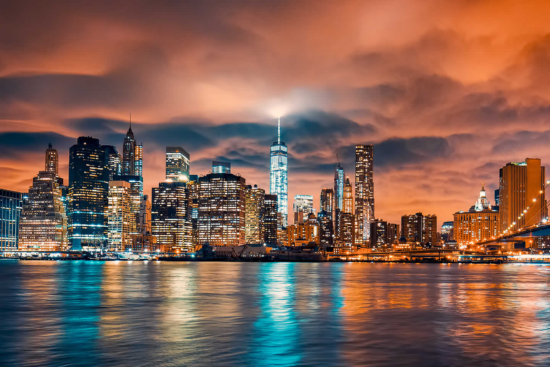view-manhattan-sunset-new-york-city